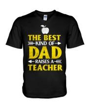 Perfect Gift - for Teacher's Dad V-Neck T-Shirt thumbnail