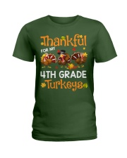 THANKFUL FOR MY 4TH GRADE TURKEYS Ladies T-Shirt thumbnail