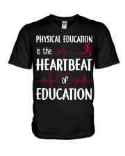 Heartbeat Education V-Neck T-Shirt thumbnail