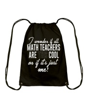LIFE ISN'T ALL ABOUT MATH THERE'S COFFEE ALSO Drawstring Bag thumbnail