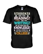 Teacher Shirt V-Neck T-Shirt thumbnail