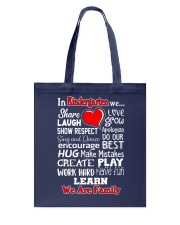 In KIndergarten We are Family Tote Bag thumbnail