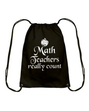 MATH TEACHER REALLY COUNT Drawstring Bag thumbnail