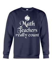 MATH TEACHER REALLY COUNT Crewneck Sweatshirt thumbnail
