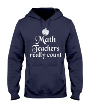 MATH TEACHER REALLY COUNT Hooded Sweatshirt thumbnail