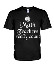 MATH TEACHER REALLY COUNT V-Neck T-Shirt thumbnail