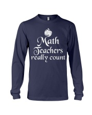 MATH TEACHER REALLY COUNT Long Sleeve Tee thumbnail