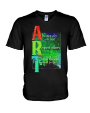Art Teacher V-Neck T-Shirt tile