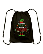 SANTA'S FAVOURITE MUSIC TEACHER Drawstring Bag thumbnail