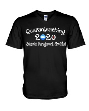 Quaranteaching 2020 V-Neck T-Shirt thumbnail