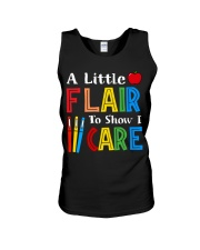 A little Flair to show i Care Unisex Tank thumbnail