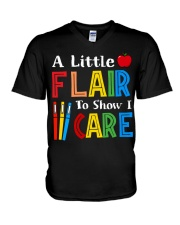 A little Flair to show i Care V-Neck T-Shirt thumbnail