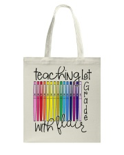 Teaching 1st Grade With Flair Tote Bag thumbnail