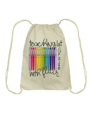 Teaching 1st Grade With Flair Drawstring Bag thumbnail