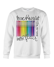 Teaching 1st Grade With Flair Crewneck Sweatshirt thumbnail