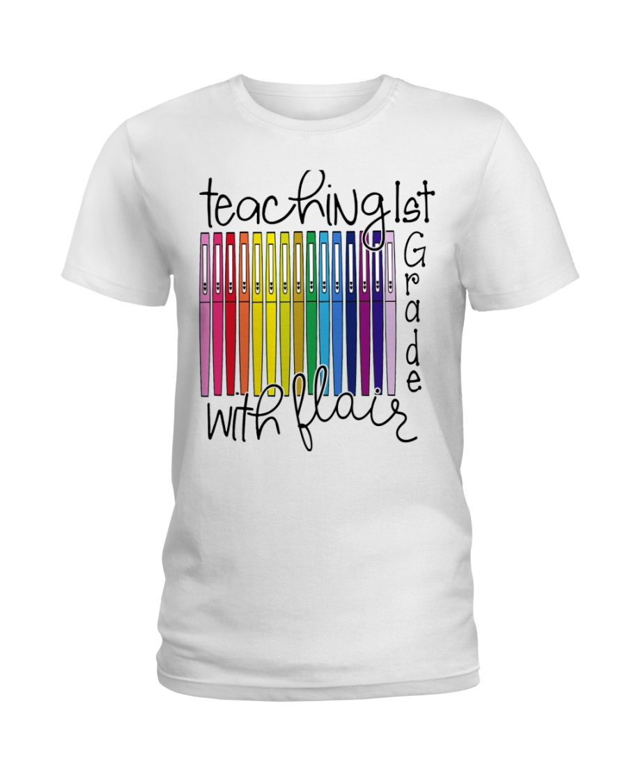 Teaching 1st Grade With Flair Ladies T-Shirt
