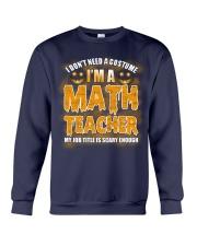 Math Teacher Halloween Crewneck Sweatshirt thumbnail