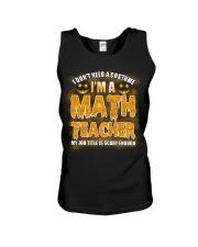 Math Teacher Halloween Unisex Tank thumbnail