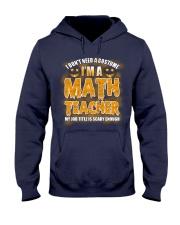 Math Teacher Halloween Hooded Sweatshirt thumbnail