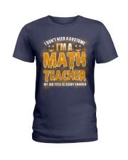 Math Teacher Halloween Ladies T-Shirt thumbnail
