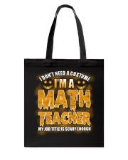Math Teacher Halloween Tote Bag thumbnail