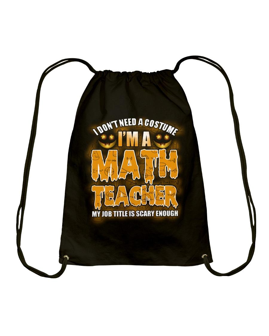 Math Teacher Halloween Drawstring Bag