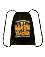 Math Teacher Halloween Drawstring Bag front