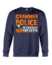 GRAMMAR POLICE TO CORRECT AND SERVE Crewneck Sweatshirt thumbnail