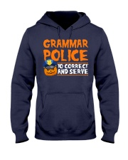 GRAMMAR POLICE TO CORRECT AND SERVE Hooded Sweatshirt thumbnail