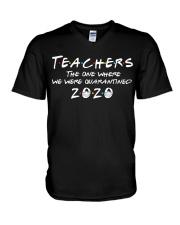 Teachers quarantined 2020 V-Neck T-Shirt thumbnail