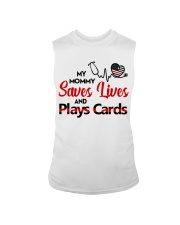 My mommy Saves lives and plays cards Sleeveless Tee thumbnail