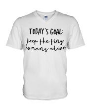 Keep The Tiny Humans Alive V-Neck T-Shirt thumbnail