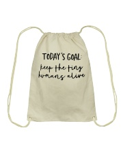 Keep The Tiny Humans Alive Drawstring Bag thumbnail