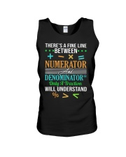 THERE'S A FINE LINE BETWEEN NUMERATOR  Unisex Tank thumbnail