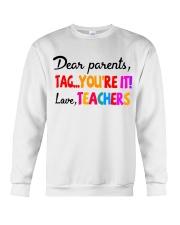 Love Teachers Crewneck Sweatshirt thumbnail