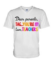 Love Teachers V-Neck T-Shirt thumbnail