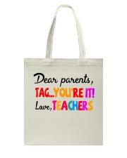 Love Teachers Tote Bag thumbnail
