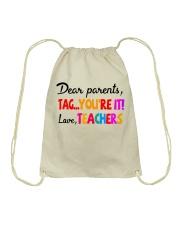 Love Teachers Drawstring Bag thumbnail