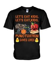 Let's eat Kids Let's eat Kids V-Neck T-Shirt thumbnail
