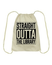 STRAIGHT OUTTA THE LIBRARY Drawstring Bag thumbnail