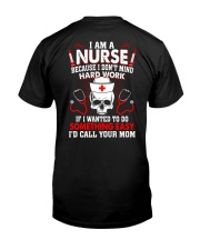 Nurse Shirt Classic T-Shirt back