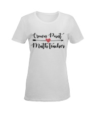 Crown point Math teacher Ladies T-Shirt women-premium-crewneck-shirt-front