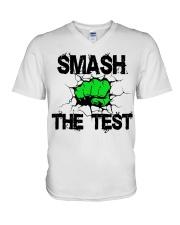 SMASH THE TEST V-Neck T-Shirt thumbnail
