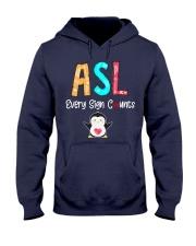 ASL every sign counts Hooded Sweatshirt thumbnail