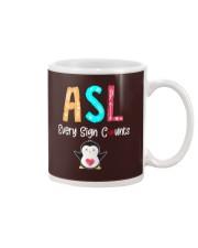 ASL every sign counts Mug thumbnail