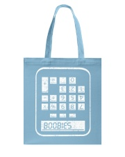 BOOBIES CALCULATOR  Tote Bag thumbnail