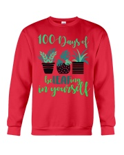 100 DAYS OF BE LEAFING IN YOURSELF Crewneck Sweatshirt front
