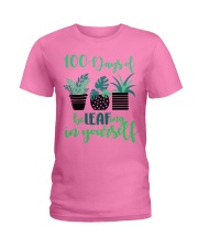 100 DAYS OF BE LEAFING IN YOURSELF Ladies T-Shirt thumbnail