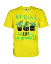 100 DAYS OF BE LEAFING IN YOURSELF V-Neck T-Shirt thumbnail