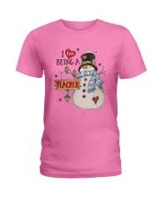I LOVE BEING A TEACHER  Ladies T-Shirt thumbnail